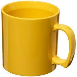 Standard 300 ml plastic mug, SAN, Yellow