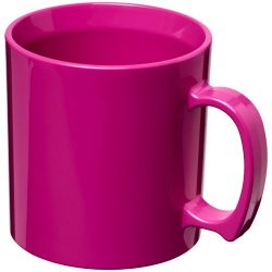 Standard 300 ml plastic mug, SAN, Pink