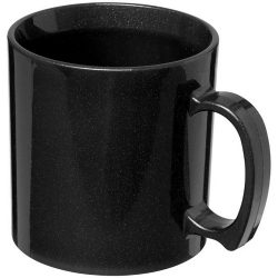 Standard 300 ml plastic mug, SAN, Midnight Black