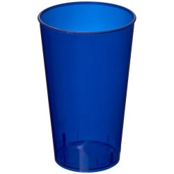 Arena 375 ml plastic tumbler, PP Plastic, Transparent,Dark blue