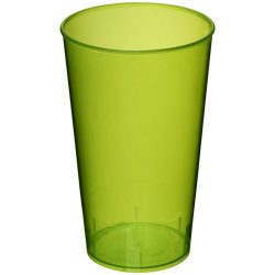 Arena 375 ml plastic tumbler, PP Plastic, Transparent,Lime green