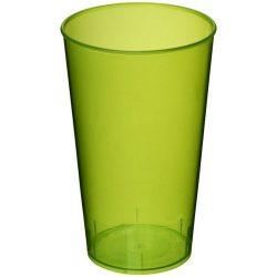 Arena 375 ml plastic tumbler, PP Plastic, Transparent,Lime green