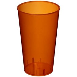 Arena 375 ml plastic tumbler, PP Plastic, Transparent,Orange