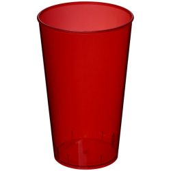 Arena 375 ml plastic tumbler, PP Plastic, Transparent, Red