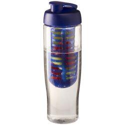 H2O Tempo® 700 ml flip lid sport bottle & infuser, PET, PP Plastic, Transparent, Blue