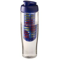 H2O Tempo® 700 ml flip lid sport bottle & infuser, PET, PP Plastic, Transparent, Blue