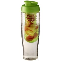 H2O Tempo® 700 ml flip lid sport bottle & infuser, PET, PP Plastic, Transparent,Lime