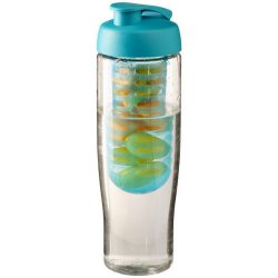 H2O Tempo® 700 ml flip lid sport bottle & infuser, PET, PP Plastic, Transparent,aqua blue