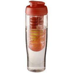 H2O Tempo® 700 ml flip lid sport bottle & infuser, PET, PP Plastic, Transparent,Orange