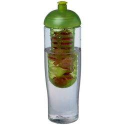 H2O Tempo® 700 ml dome lid sport bottle & infuser, PET, PP Plastic, Transparent,Lime