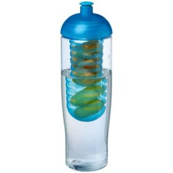 H2O Tempo® 700 ml dome lid sport bottle & infuser, PET, PP Plastic, Transparent,aqua blue