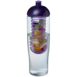 H2O Tempo® 700 ml dome lid sport bottle & infuser, PET, PP Plastic, Transparent,Purple
