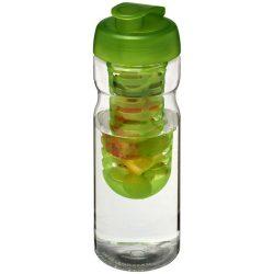 H2O Base® 650 ml flip lid sport bottle & infuser, PET, PP Plastic, Transparent,Lime