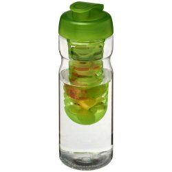 H2O Base® 650 ml flip lid sport bottle & infuser, PET, PP Plastic, Transparent,Lime