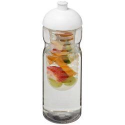 H2O Base® 650 ml dome lid sport bottle & infuser, PET, PP Plastic, Transparent,White