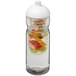 H2O Base® 650 ml dome lid sport bottle & infuser, PET, PP Plastic, Transparent,White