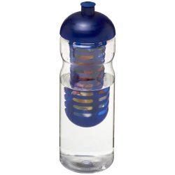 H2O Base® 650 ml dome lid sport bottle & infuser, PET, PP Plastic, Transparent, Blue