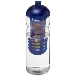 H2O Base® 650 ml dome lid sport bottle & infuser, PET, PP Plastic, Transparent, Blue