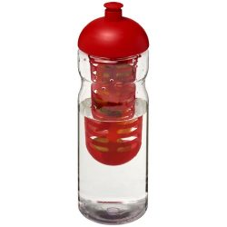 H2O Base® 650 ml dome lid sport bottle & infuser, PET, PP Plastic, Transparent, Red
