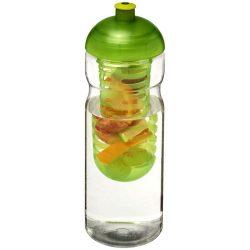H2O Base® 650 ml dome lid sport bottle & infuser, PET, PP Plastic, Transparent,Lime