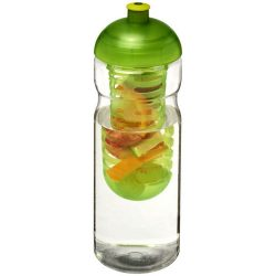 H2O Base® 650 ml dome lid sport bottle & infuser, PET, PP Plastic, Transparent,Lime