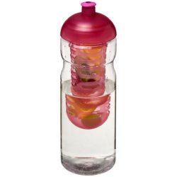 H2O Base® 650 ml dome lid sport bottle & infuser, PET, PP Plastic, Transparent,Purple
