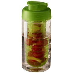 H2O Bop® 500 ml flip lid sport bottle & infuser, PET, PP Plastic, Transparent,Lime