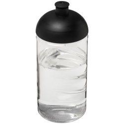 H2O Bop® 500 ml dome lid bottle, PET, PP Plastic, Transparent, solid black