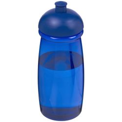 H2O Pulse® 600 ml dome lid sport bottle, PET, PP Plastic, Blue