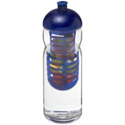 H2O Base Tritan™ 650 ml dome lid bottle & infuser, Tritan™, PP Plastic, Transparent, Blue