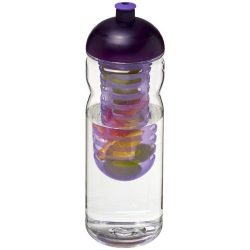 H2O Base Tritan™ 650 ml dome lid bottle & infuser, Tritan™, PP Plastic, Transparent,Purple