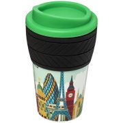 Brite-Americano® tyre 350 ml insulated tumbler, Silicone, Green