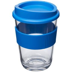 Americano® Cortado 300 ml tumbler with grip, SAN, PP Plastic/HDPE, Silicone, Mid Blue