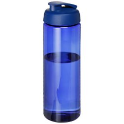 H2O Vibe 850 ml flip lid sport bottle, PET Plastic, PP Plastic, Blue