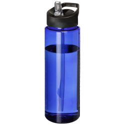 H2O Vibe 850 ml spout lid sport bottle, PET Plastic, PP Plastic, Blue, solid black
