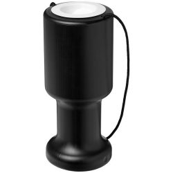 Asra hand held plastic charity container, Polyethylene, solid black