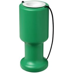 Asra hand held plastic charity container, Polyethylene, Green