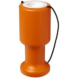 Asra hand held plastic charity container, Polyethylene, Orange