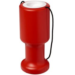 Asra hand held plastic charity container, Polyethylene, Red