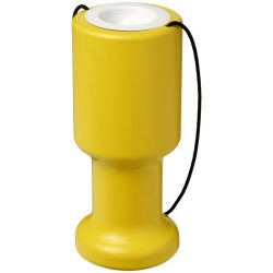 Asra hand held plastic charity container, Polyethylene, Yellow