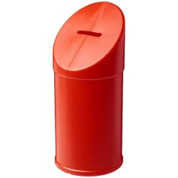 Heba plastic charity collector container, Polyethylene, Red