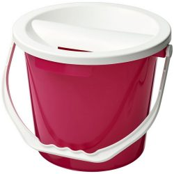 Udar charity collection bucket, PP Plastic, Pink
