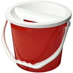 Udar charity collection bucket, PP Plastic, Red