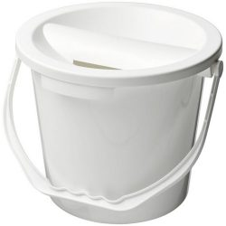 Udar charity collection bucket, PP Plastic, White