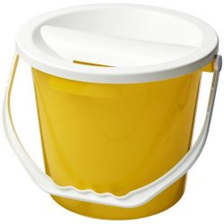 Udar charity collection bucket, PP Plastic, Yellow