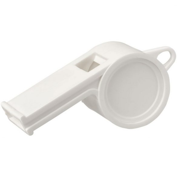 Hoot traditional referee whistle, GPPS Plastic, White