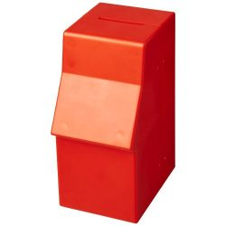 Capital ATM-shaped plastic money box, GPPS Plastic, Red