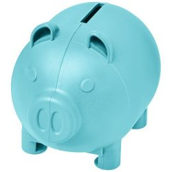 Oink small piggy bank, GPPS Plastic, Aqua
