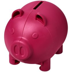 Oink small piggy bank, GPPS Plastic, Pink