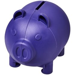 Oink small piggy bank, GPPS Plastic, Purple